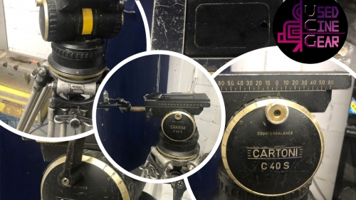Used Cartoni C40s Camera Fluid Head